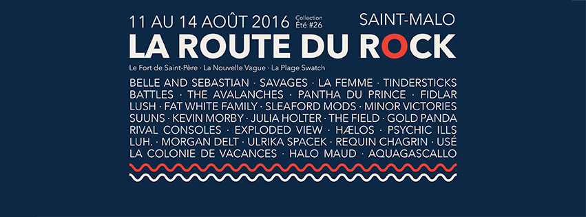 Programmation de la route du rock 2016